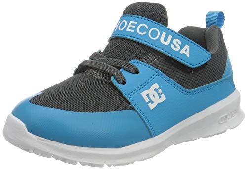 DC Shoes Girls Heathrow Prestige Elastic Sneaker, Bright Blue, 5 UK