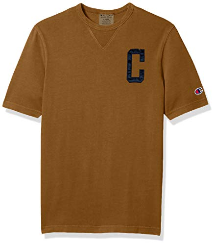 Champion LIFE Men's Vintage WASH Heritage Short Sleeve TEE-Satin C, Imperial Gold, X Small