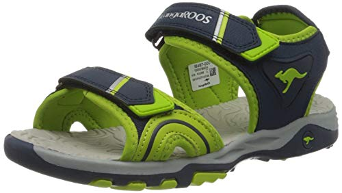 KangaROOS K-Track Unisex-Kinder Sneaker, Blau (Dark Navy/Lime 4054), 30 EU