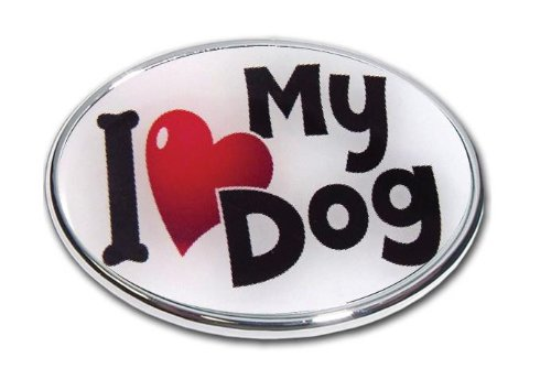 """Love My Dog - Oval Shape 2"""" Hitch Receiver - 3/8 Inch Thick High Grade Aluminum - - Size Measures 4"""" X 6"""""""