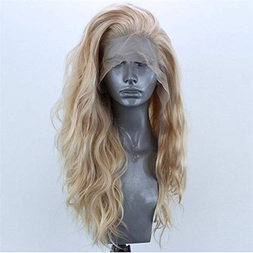 Perruque de Cheveux Les Femmes 65cm résistant à la Chaleur Gratuite Partie Noir/Rose/Blanc/Bleu/Rouge Curly Quotidienne Longue synthétique Avant de Dentelle Perruque