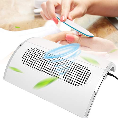 40W Collettore di polveri per unghie Forte aspiratore 3 Ventilatore per nail art Aspirapolvere Strumento per manicure, per trapani per unghie, Manicure per unghie(bianca)