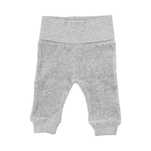 FIXONI LITTLE BEE Le pantalon pour prématuré en velours ras pantalon bébé, 01-82 Light Grey Melange