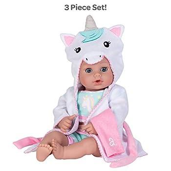 Adora Baby Bath Toy Unicorn 13 inch Bath Time Doll with QuickDri Body
