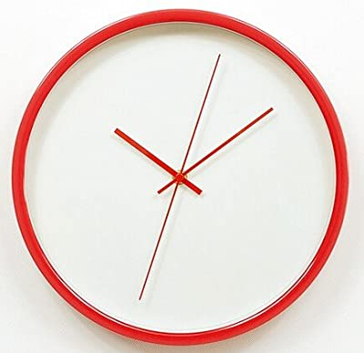 Red clock watch wall clocks Reida 12 inch metal wall clock large size Big Wall Clock