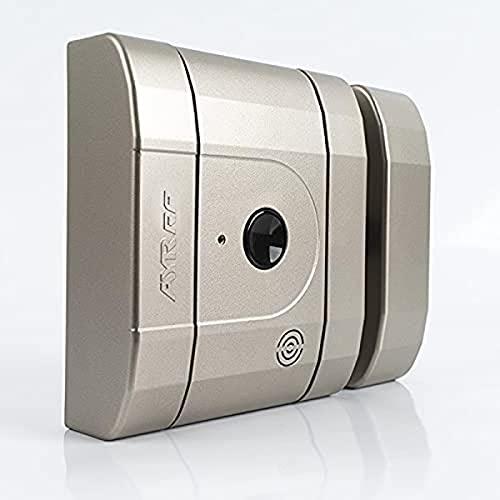 Cerradura electrónica invisible de seguridad int_LOCK RF. Acabado níquel mate.