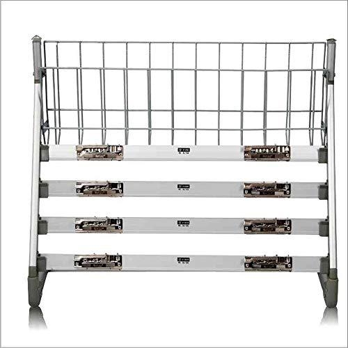 Revistero tipo de pared estantes para revistas de hierro plateado blanco capas múltiples clips marcados cesta de alambre espinado archivos verticales Rack