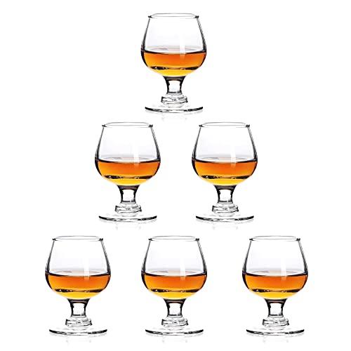 Shot Glasses, 1.75oz Mini Shot Glass Set of 6/Clear Shot Glasses/Super Cute Shot Glasses/Perfect for Tasting Brandy/Glass Snifters