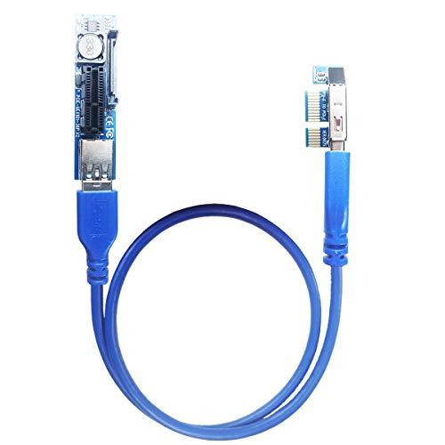GLOTRENDS PCI-E 延長ケーブル 0.6m 限られたスペース設置用 (UEX101)