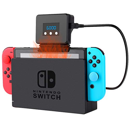 Photo of Switch Cooling Fan for Nintendo Switch Dock Set, Temperature Display Cooler for NS Dock Station for Nintendo Switch LED Light USB Cable Temperature Adjustment