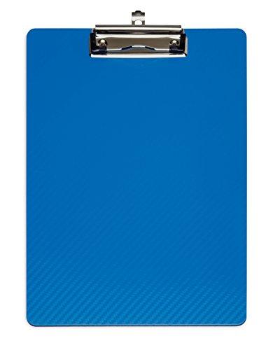 Klemmbrett MAULflexx, Strapazierfähige A4 Schreibplatte, Einschiebbare Aufhängöse, Blau