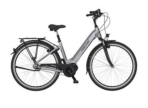Fischer E-Bike City CITA 4.0i, Elektrofahrrad, quarzgrau matt, 28 Zoll, RH 44 cm, E-Bike Mittelmotor 50 Nm, 48 V Akku im Rahmen