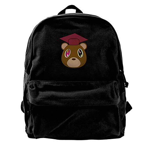 Kanye West Graduation Casual Style Lightweight Canvas Backpack School Bag Travel Daypack