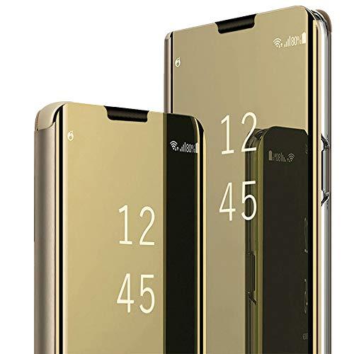 Élégant étui de protection compatible avec Huawei P40 Pro, étui de protection réfléchissant en cuir PU à rabat avec fonction support pour Huawei P40 Pro -  Multicolore - Medium