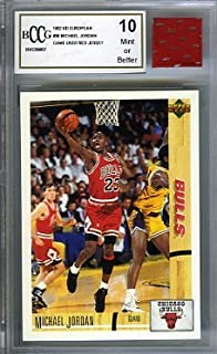 479a65aedb9509 1992 Upper Deck European  38 Michael Jordan with Piece of Authentic Michael  Jordan Chicago Bulls