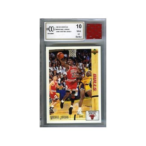 b126bc8ef6b 1992 Upper Deck European  38 Michael Jordan with Piece of Authentic Michael  Jordan Chicago Bulls