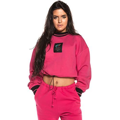 GRIMEY Sudadera Chica Nemesis Crop Crewneck FW18 Pink-M