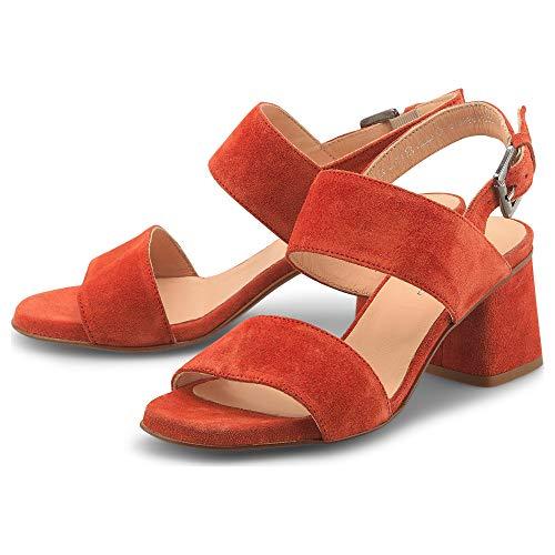 Belmondo Damen Velours-Sandalette Rot Rauleder 39
