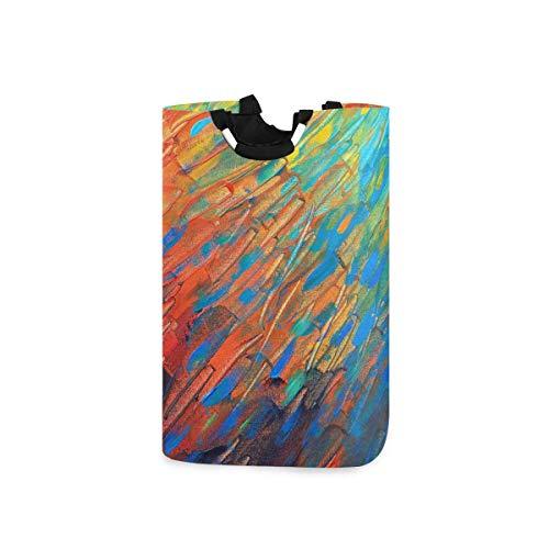 N\A Cesto de lavandería Cesto de Ropa para Lavar - Cesta de Ropa Plegable de Pintura al óleo Colorida Cesta de Ropa de Gran Capacidad para baño, Armario