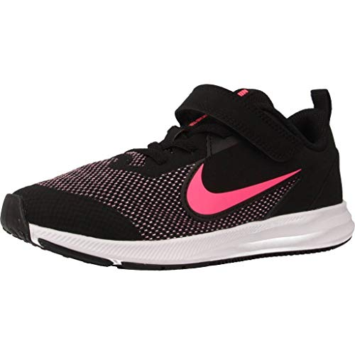 Nike Downshifter 9 (PSV), Zapatillas de Running para Asfalto para Niños, Multicolor (Black/Hyper Pink/White 003), 34 EU