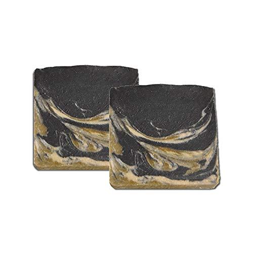 Mijo 2x BLACK-GOAT schwarze Seife für Gesicht mit Ziegenmilch Naturseife mit Bio Olivenöl, ohne Palmöl ca. 100g/St