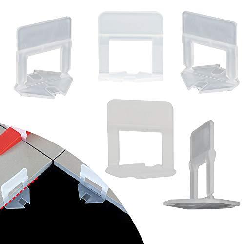EXLECO Kit Nivelación de Azulejos 600 Espaciadores de 2 mm para grandes forma plazo de azulejos instalación 3-12 mm, Sistema Nivelación de Baldosas Accessiones