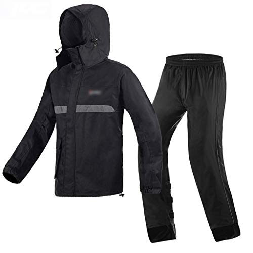 Regenjas voor volwassenen, waterdicht, winddicht, met capuchon, sport, outdoor, waterdicht, werkkleding, motorfiets