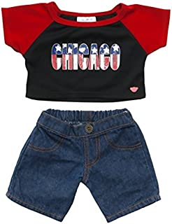Build A Bear Workshop Chicago Stars & Stripes Outfit 2 pc.