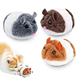 Ratones para Gatos de Peluche,Ratones para Gatos,Juguetes para Gatos,Sonido de Ratón de Juguete para Gatos,pequeño Ratón Gato Gatito,Juguete de Ratón de Peluche de Gato (A)