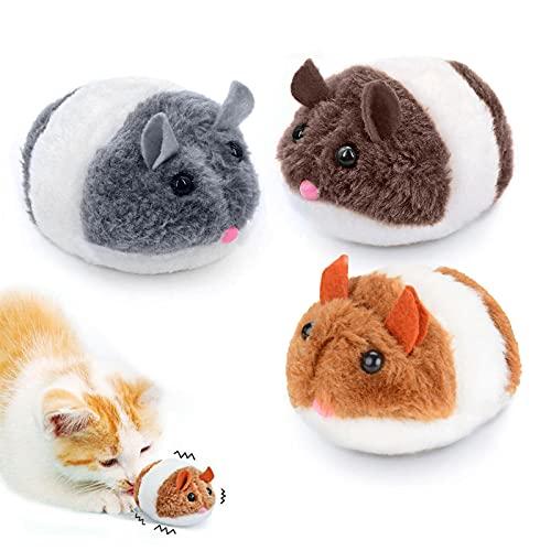 Katzenspielzeug Maus Beweglich,3 Stück Mausspielzeug Katzenspielzeug,Interaktives Katze Spielzeug Mäuse,Maus Für Katze,Mouse Katze Haustier,Katze Maus Toys,Maus Katzenminze,Mäuse Spielzeug (B)
