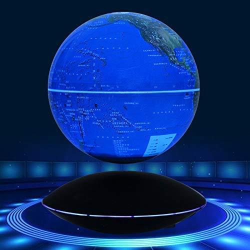 GYLEJWH Magnetic Levitation Schwebender Globus, 6-Zoll-Spinning-Ball Anti-Gravity-Weltkarte Globus, Für Schreibtische, Büros, Inneneinrichtungen, Kinder Bildung