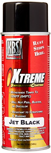 KBS Coatings 65102 Jet Black Xtreme Temperature Coating - 12 fl. oz.