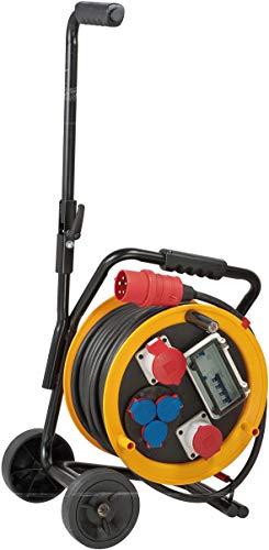 Brobusta H07RN-F 5G4,0 CEE 2 FI IP44 - Carrete alargador de cable con carro (30 m)