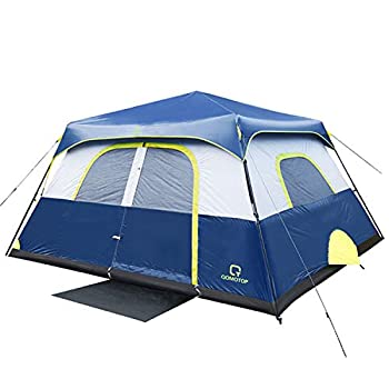 OT QOMOTOP Tents 8 Person 60 Seconds Set Up Camping Tent Waterproof Pop Up Tent with Top Rainfly Instant Cabin Tent Advanced Venting Design Provide Gate Mat