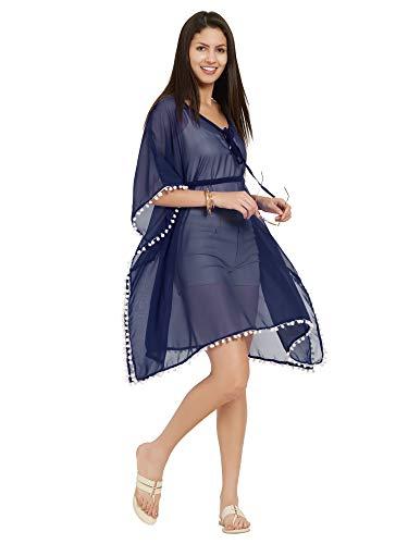 SOURBH Kaftan Top Beach Wear Coverup Dresses for Women Bikini Boho Body Swim Wear Cover Ups (Free Size)