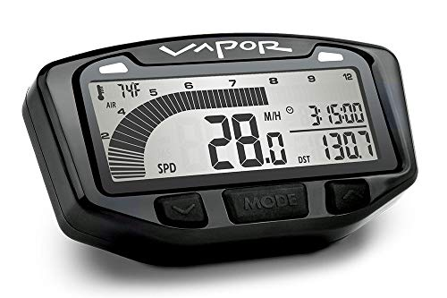 Trail Tech 742-A00 Black Surface Mount TTO Digital Tachometer plus Hour Meter