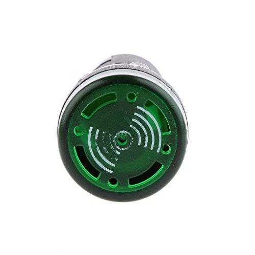B Baosity Indicador de Flash/Indicador de Alarma Intermitente con LED Zumbador AC DC 12V 22mm