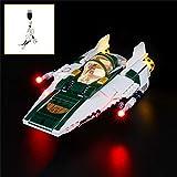 QJXF Juego De Luces USB Compatible con Lego Star Wars Resistencia A-Wing Starfighter 75248, LED Light Kit para (Resistencia A-Wing Starfighter) De Bloques De Creación De Modelos (No Incluido Modelo)