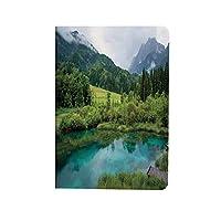 風景 可愛い 2020新型 iPad Air4 10.9 ケース スロベニアのクランスカゴーラ近くのゼレンチ池の写真牧歌的な景色の景色 お洒落 薄型 軽量 おしゃれ 人気 手帳型ケ 緑のアクア