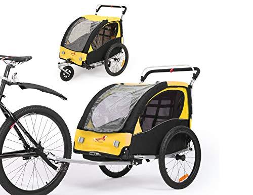 Fiximaster 360 ° Giratorio Niños Bicicletas Remolque Transporte Buggy Carrier Dos Asiento Bebé...