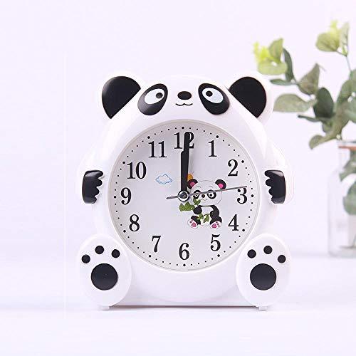 JJIAOJJ Reloj despertador para estudiantes con lindos dibujos animados para niños, reloj despertador especial para dormitorio con personalidad perezosa para hablar, color rosa (color: blanco)