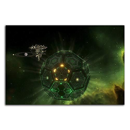 Trelemek Dyson Sphere - Póster artwork (61 x 40,6 cm), diseño de videojuegos