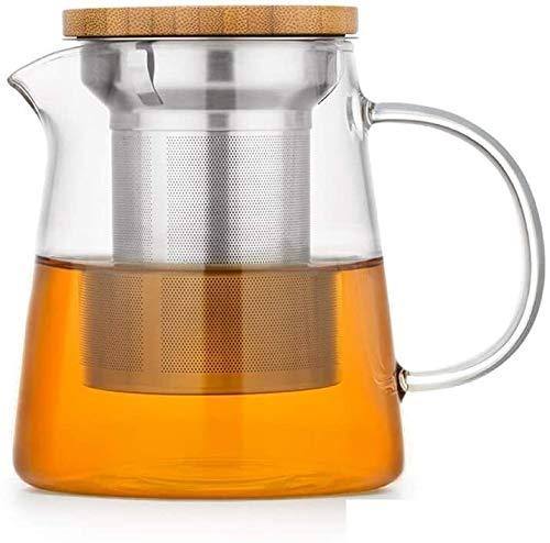 Bouilloire induction Théière à thé de théière Théière à thé en verre Théière transparente Théière transparente et filtre Sécurité 700ml pour le bureau de la maison en plein air WHLONG