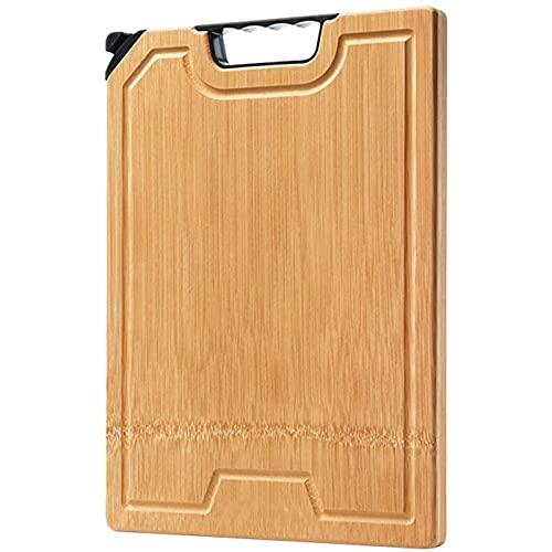 Wyxy Tabla de Cortar de bambú orgánico para Cocina, Tablas de Cortar de Madera con Ranura para Jugo, Grado Profesional para Mayor Resistencia y Durabilidad, lo Mejor para Carne, Verduras