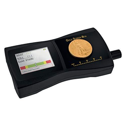 GoldScreenBox Goldprüfgerät - Edelmetall Echtheit prüfen - Gold & Silber Tester – Funktioniert auch durch Blister, Folien & Kapseln - Messung auch von Palladium, Platin & Rhodium möglich