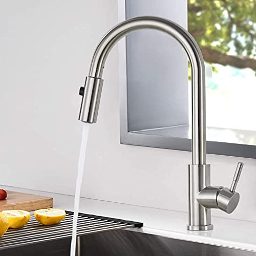 Solina - Grifo de baño de 2 tipos de chorros con ducha, grifo extensible, lavabo, grifo monomando universal (acero inoxidable)