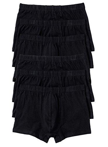 1001-kleine-Sachen 6er-Pack Herren Boxershorts Ben Boxer aus Baumwolle Herrenslips Unterhosen Männer Unterwäsche, schwarz, Größe 4, 5, 6, 7, 8 und 9 (7=XL)