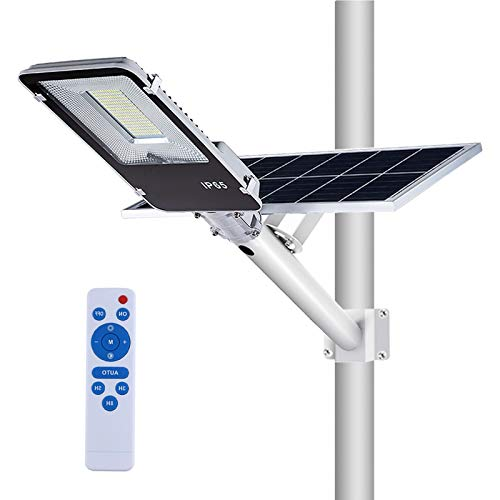 100W Solar Street Flood Lights,APONUO Outdoor Street Light 5000 Lumens Solar Powered Flood Lamp with Remote Control High Brightness Dusk to Dawn for Yard, Driveway, Swimming Pool, Basketball Court, St