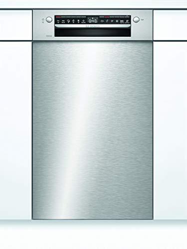 Bosch SPU4HKS53E Serie 4 Unterbau-Geschirrspüler / E / 45 cm / Edelstahl / 70 kWh/100 Zyklen / 9 MGD / SuperSilence / Extra Trocknen / VarioBesteckkorb / Home Connect