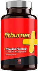 Fitburner+ | Suplemento Ultra Potente para tu Dieta | Pastillas Efectivas Triple Acción | Contiene Garcinia, Cafeína, Vitaminas y Extractos Naturales | Para Hombres y Mujeres | 90 Cápsulas